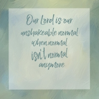 Our Unshakeable Normal